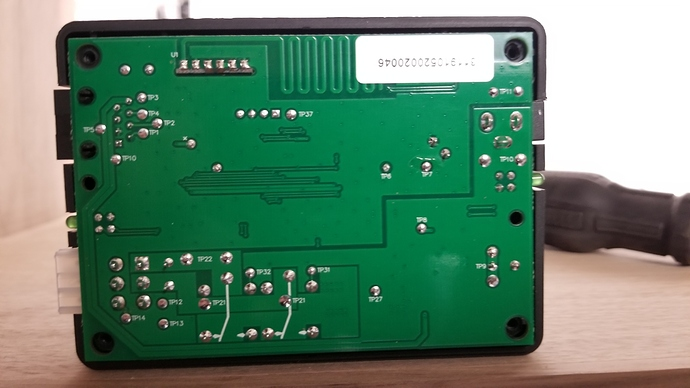 back of control board