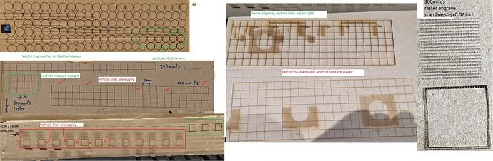 photos of raster test