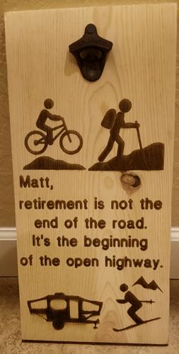matt plaque