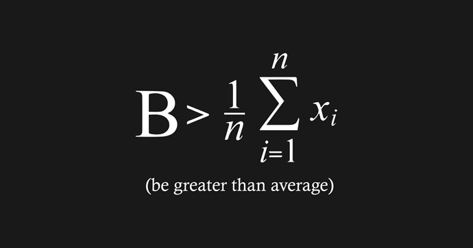 be greater than average