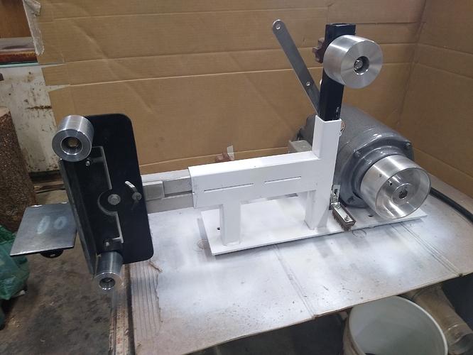 belt grinder side