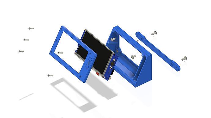Eustathios LCD Module - PanelDue 5I - Exploded