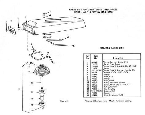 Drill press parts 2
