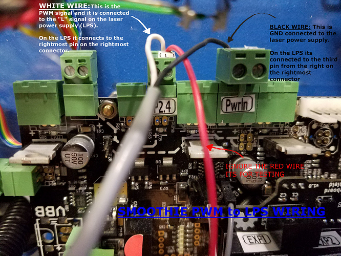 PWM wiring for k40 to smoothie