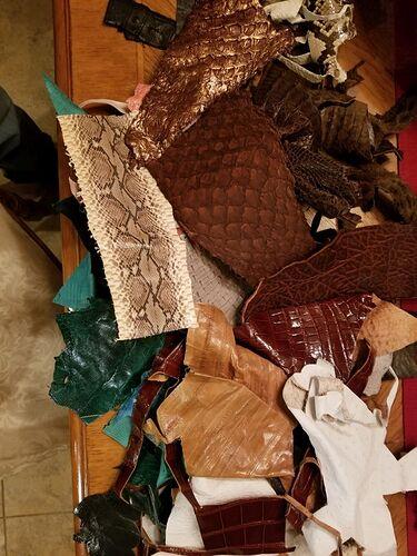 exotic leather scraps