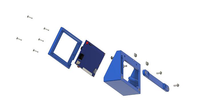 Eustathios LCD Module - PanelDue 5I - Exploded 2