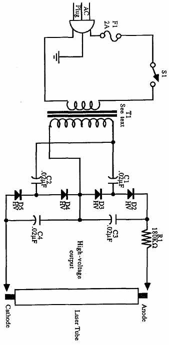 High voltage schematic